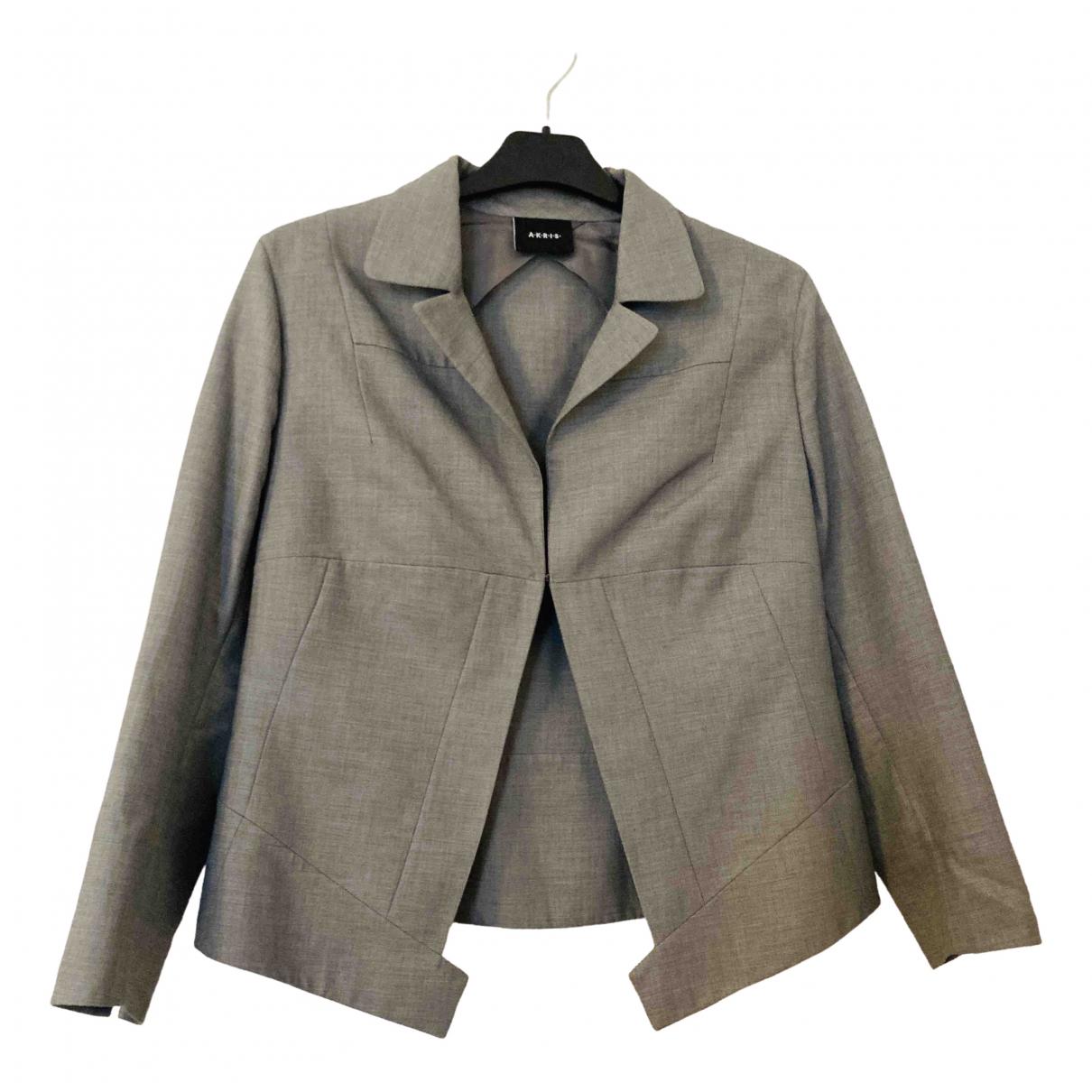 Akris - Veste   pour femme en coton - gris