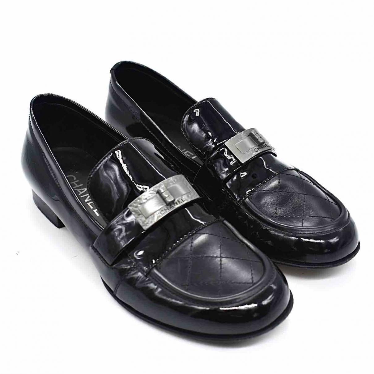 Chanel - Sandales   pour femme en cuir - noir