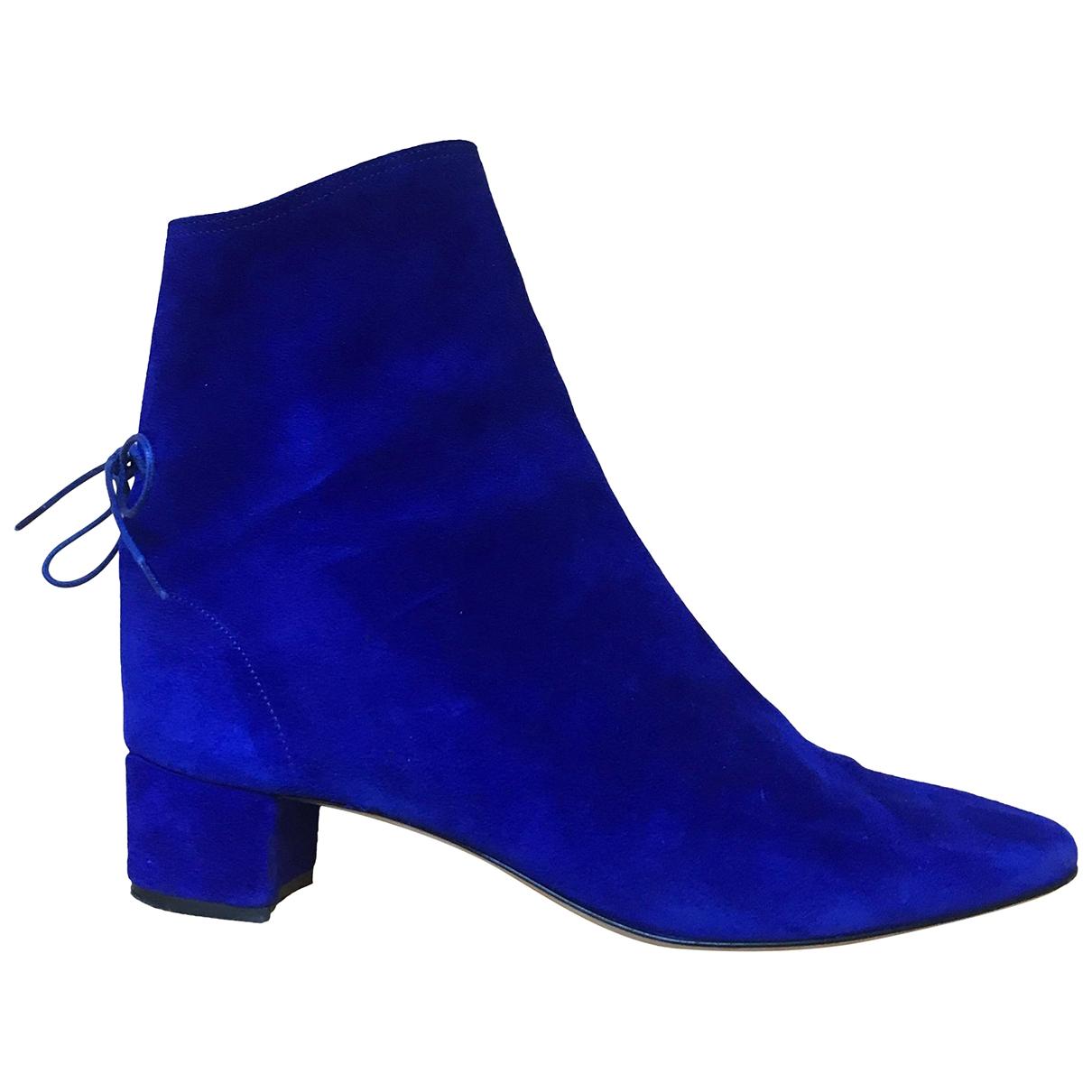 Soloviere - Boots   pour femme en suede - bleu