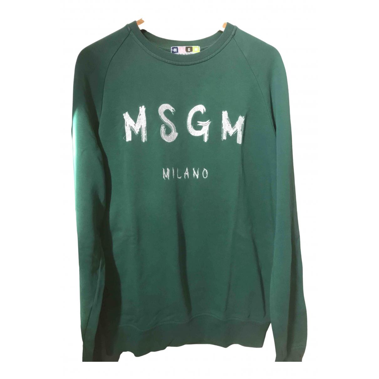 Msgm - Pulls.Gilets.Sweats   pour homme en coton - vert