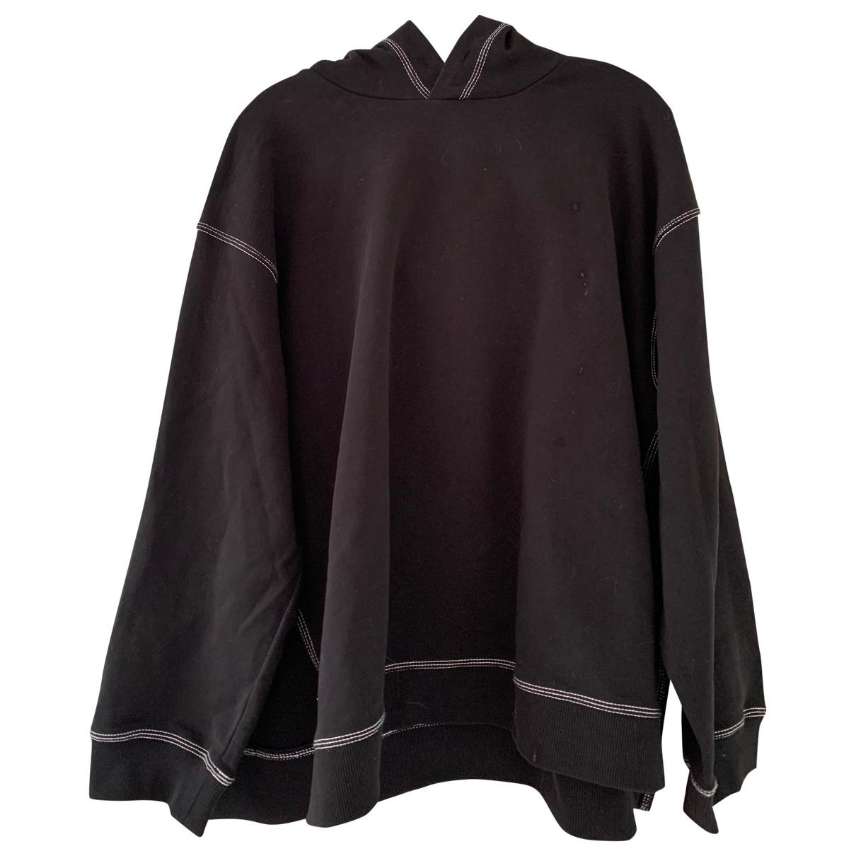 Mm6 - Pull   pour femme en coton - noir