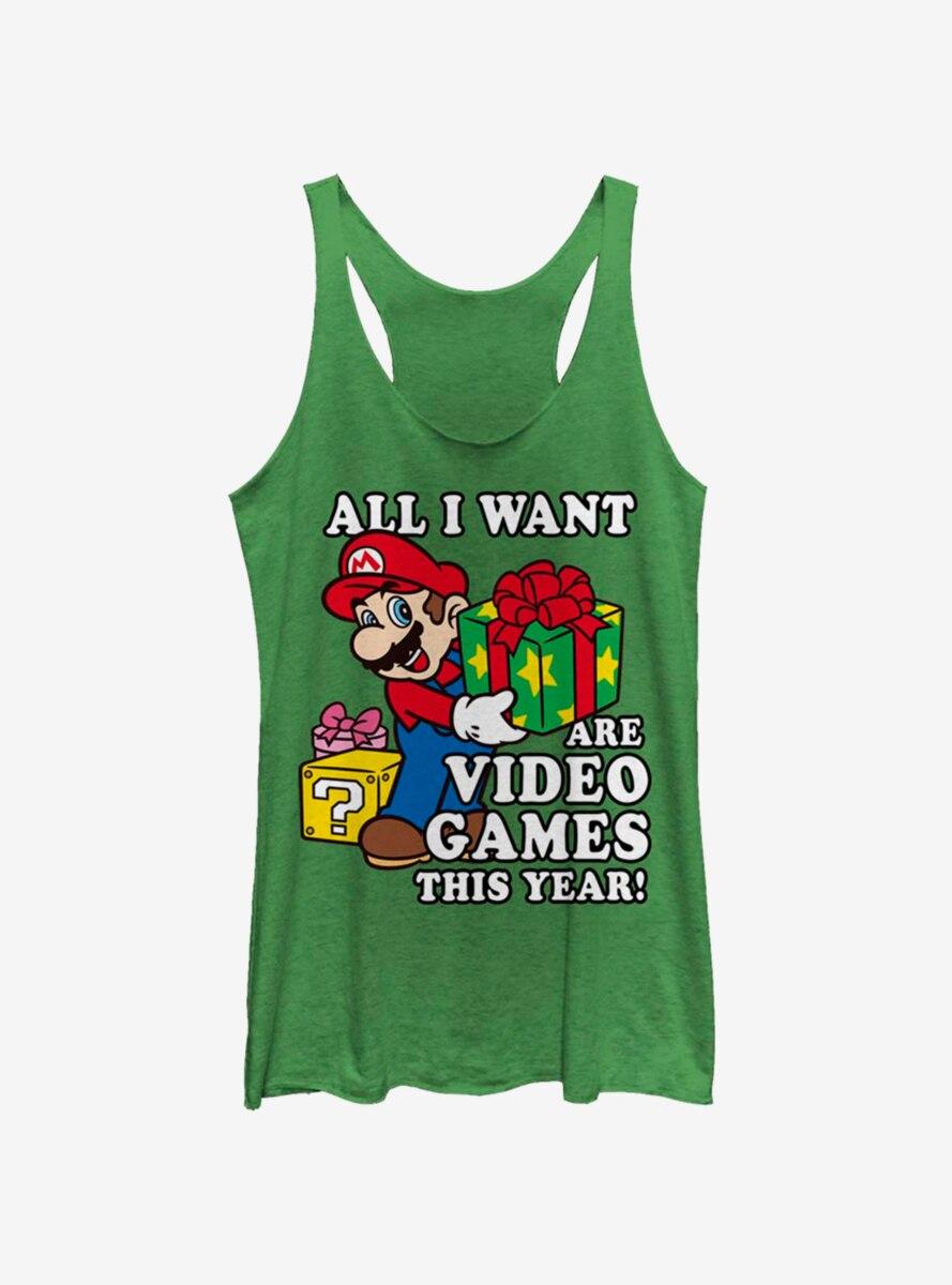 Nintendo Super Mario Give Video Games Womens Tank Top