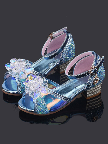 Milanoo Flower Girl Shoes Golden Rhinestones Party Kids Shoes For Wedding