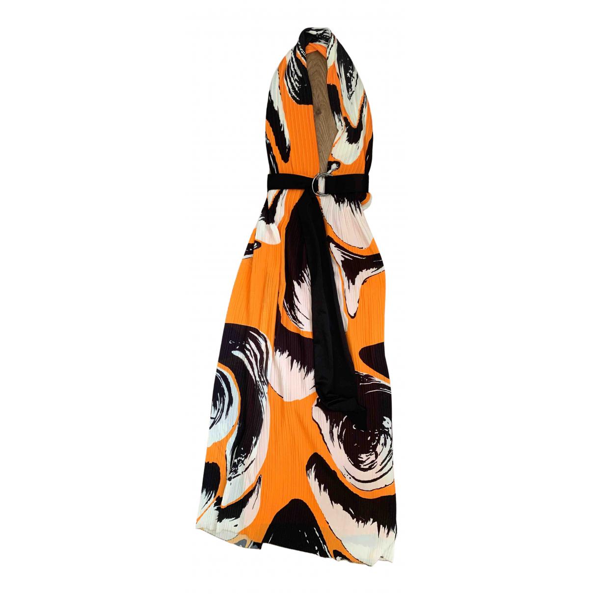 Solace London \N Kleid in  Orange Polyester