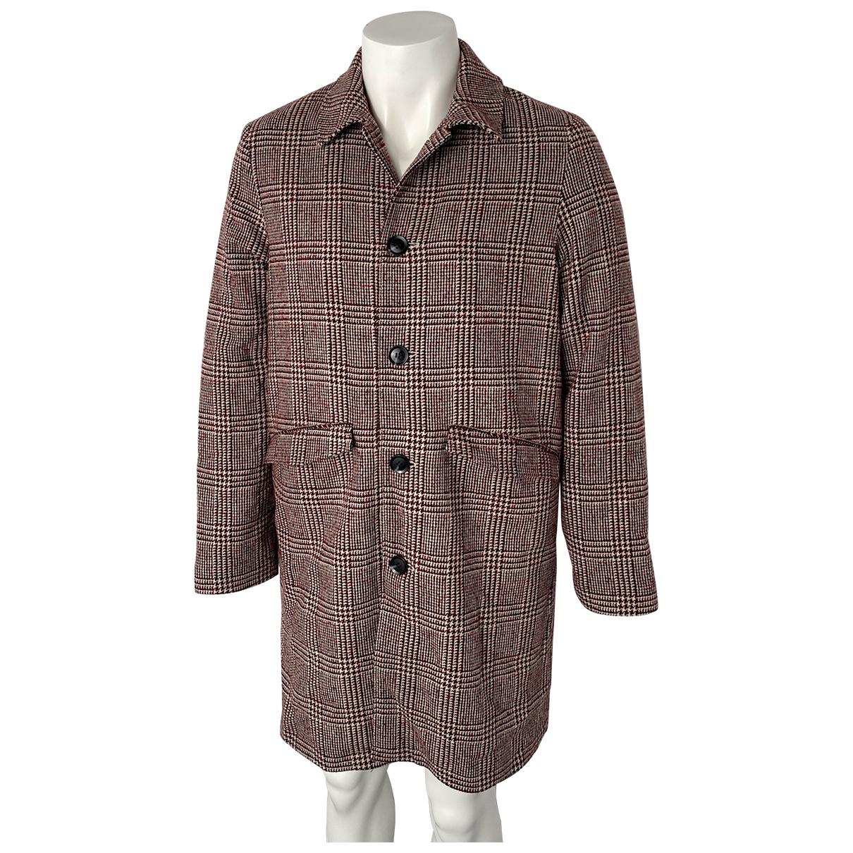 Samsoe & Samsoe - Manteau   pour homme en laine - rouge