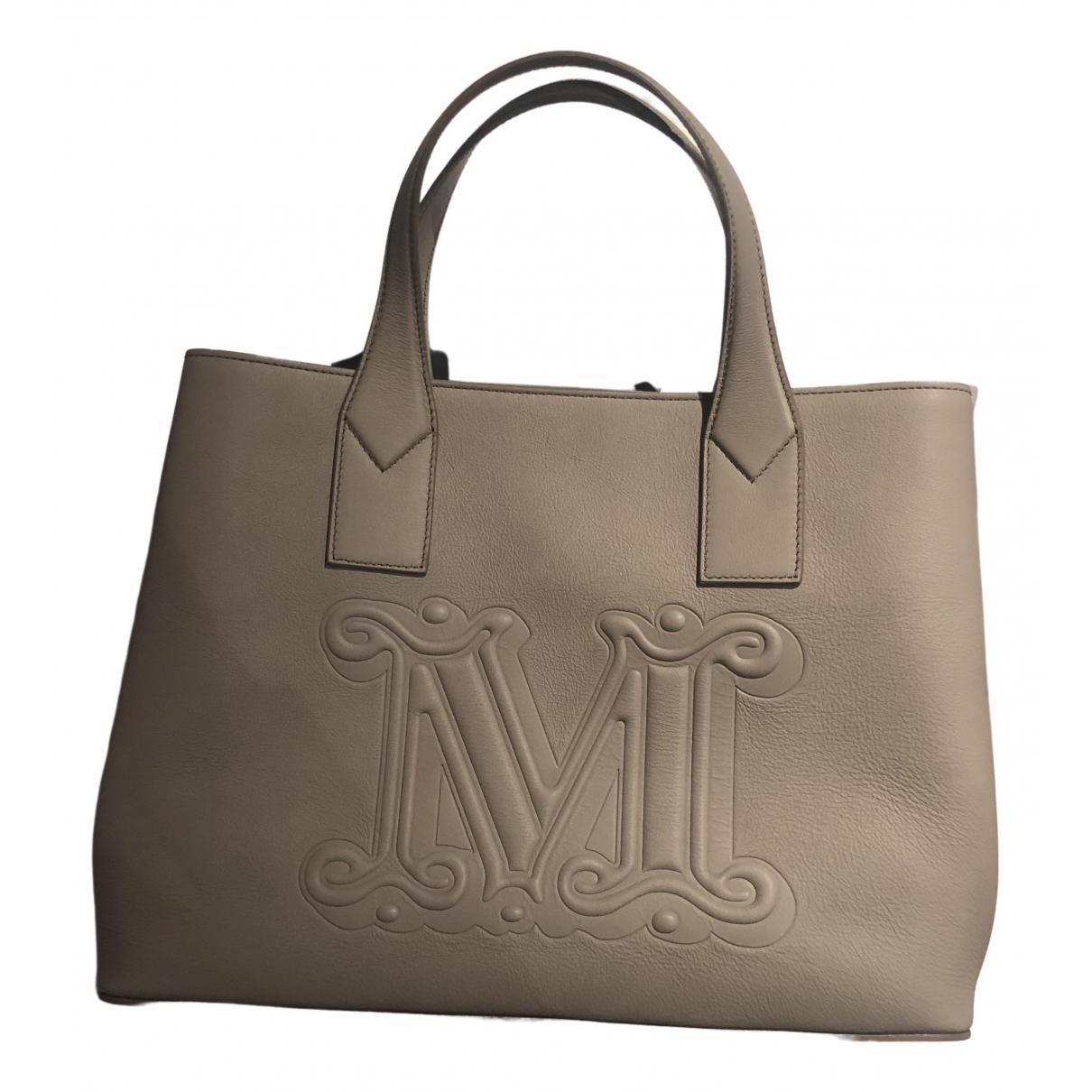 Max Mara \N Beige Leather handbag for Women \N