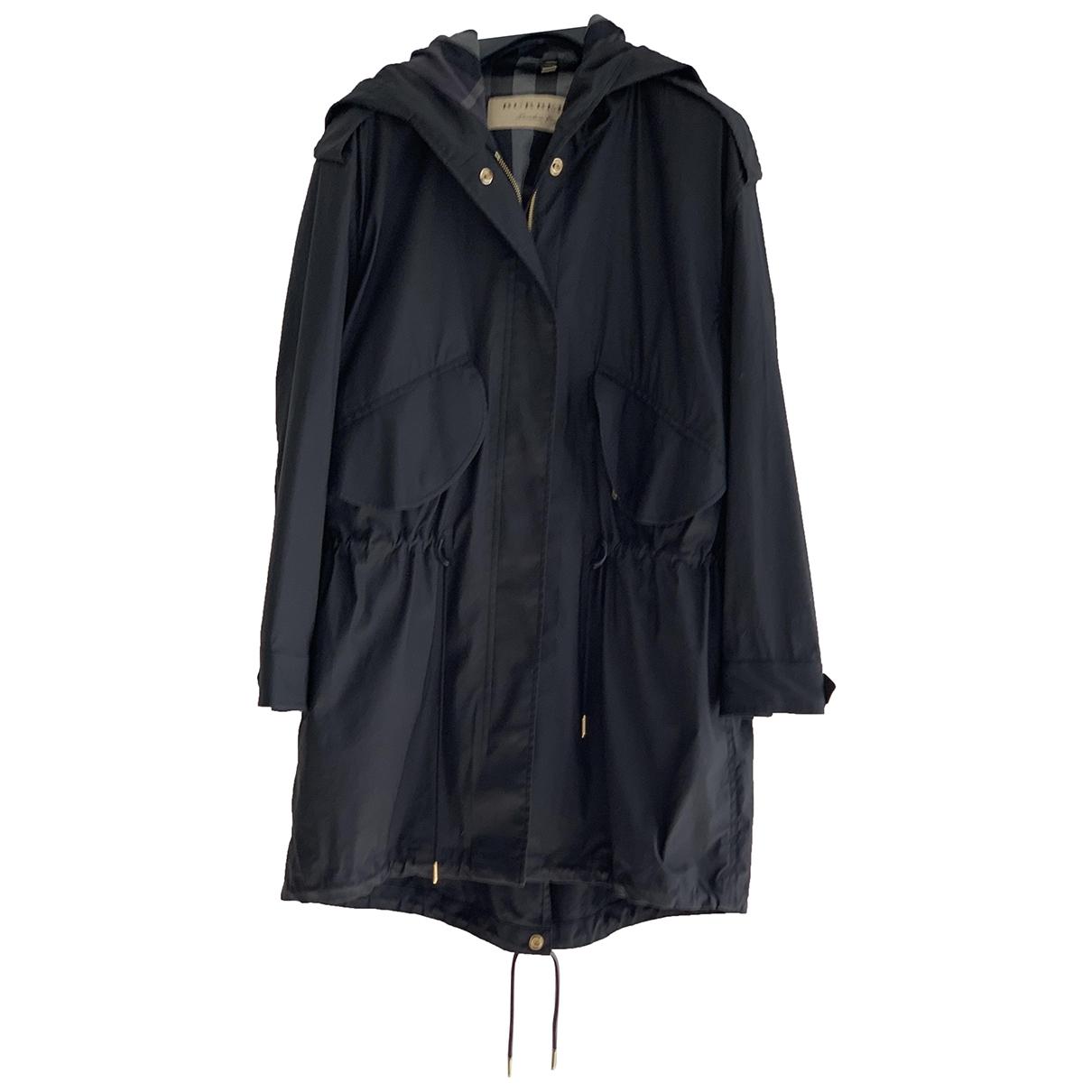Burberry \N Black Cotton coat for Women M International