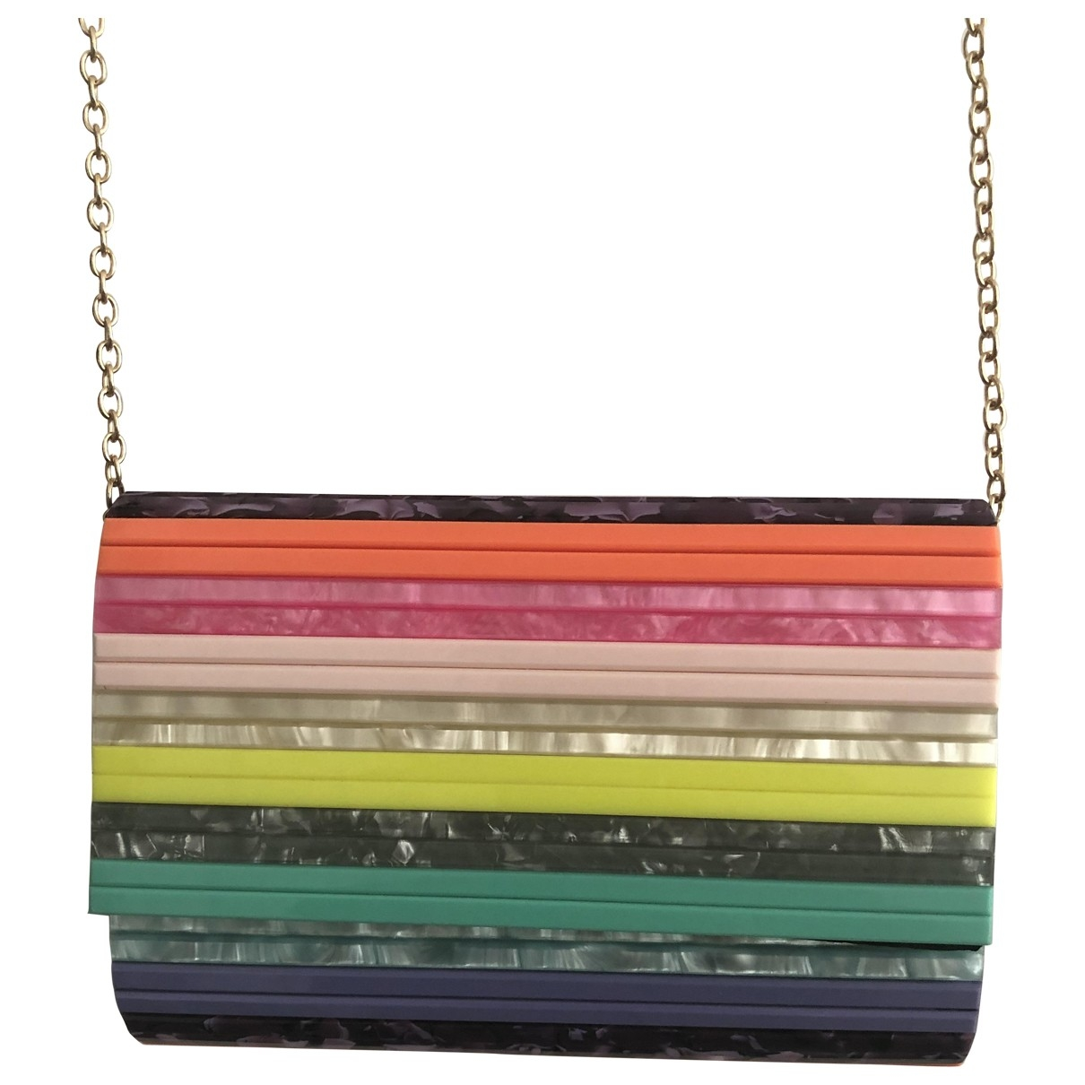 Non Signe / Unsigned \N Clutch in  Bunt Kunststoff