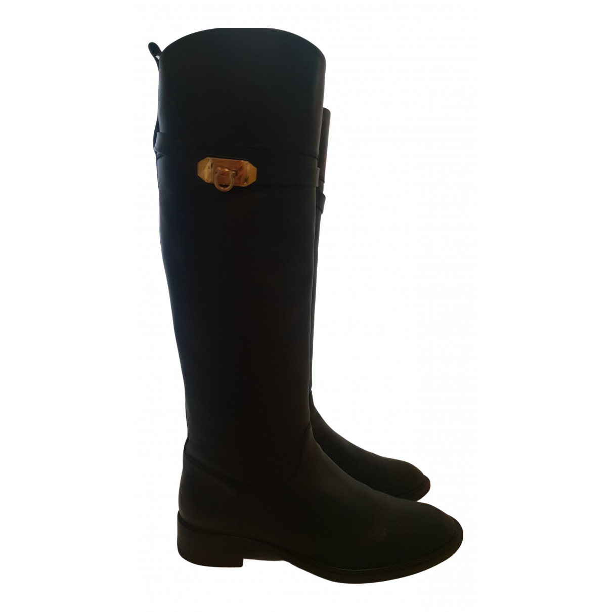 Salvatore Ferragamo N Black Leather Boots for Women 39 EU