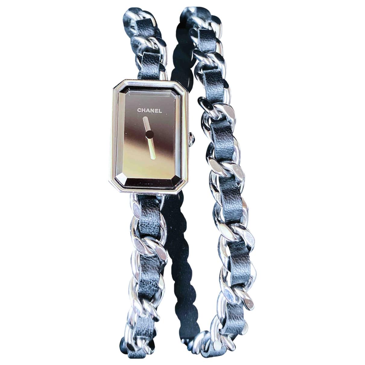 Chanel Premiere Rock Uhr in  Schwarz Stahl