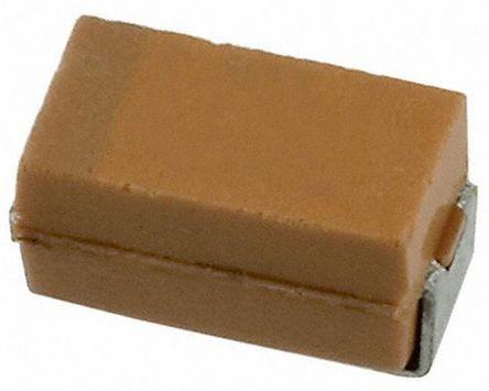 AVX Tantalum Capacitor 10μF 6.3V dc Electrolytic Solid ±10% Tolerance , TAJ (50)