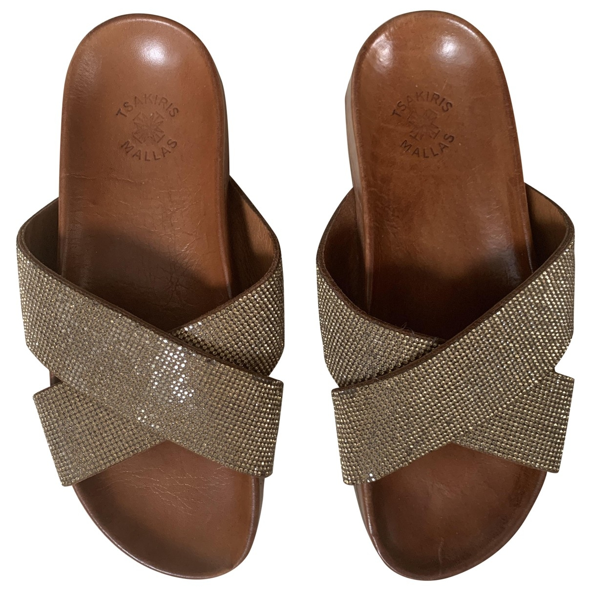 Non Signé / Unsigned \N Gold Sandals for Women 38 EU
