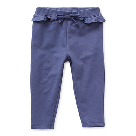Okie Dokie Baby Girls Cuffed Jogger Pant, 12 Months , Blue