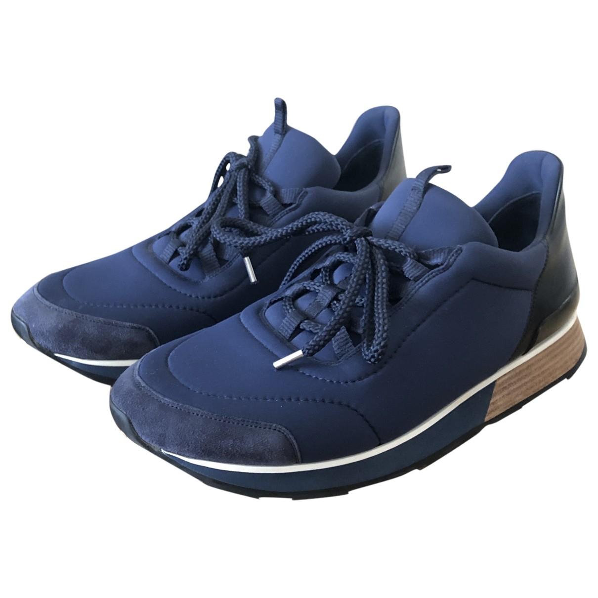 Hermes \N Sneakers in  Marine Leinen