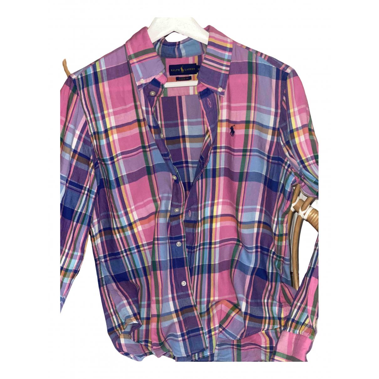 Polo Ralph Lauren N Pink Cotton  top for Women 38 FR