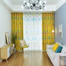 1 Stueck Vorhang mit Hand Muster
