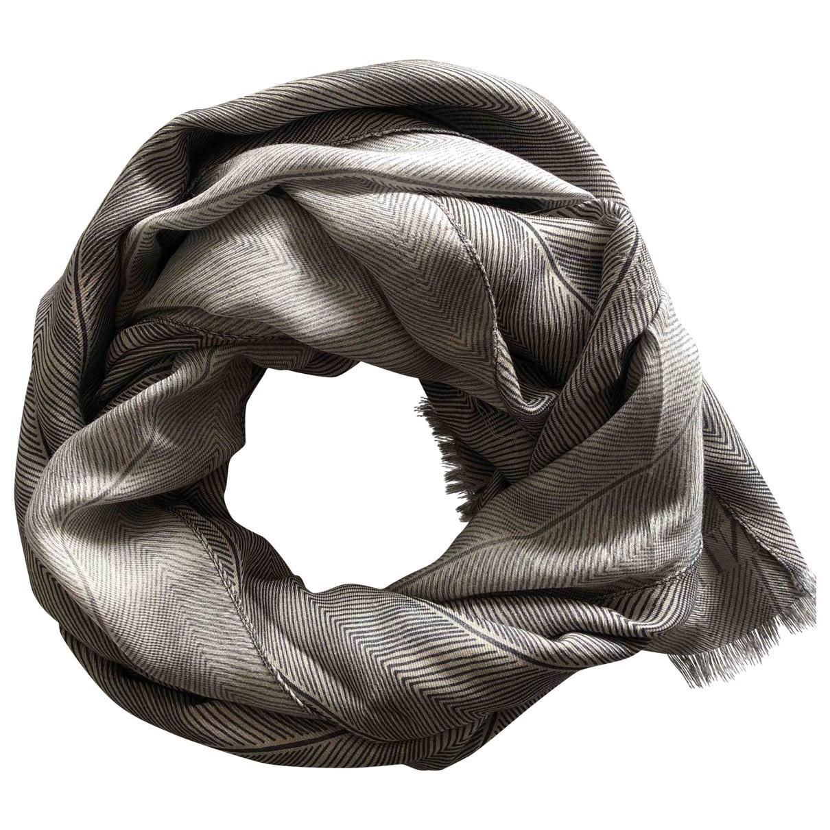 Valentino Garavani - Foulard   pour femme en soie - gris