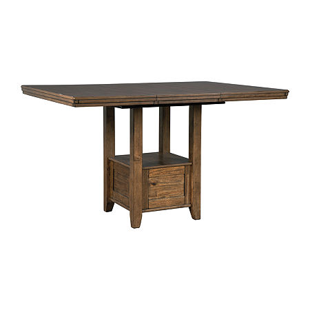 Signature Design by Ashley Benchcraft Flaybern Counter Height Dining Table, One Size , Brown