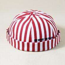 Sombrero de propietario de hombres de rayas