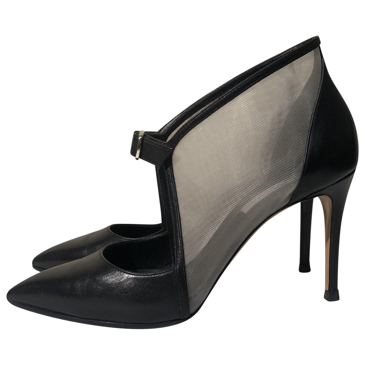 Casadei \N Black Leather Heels for Women 37 EU