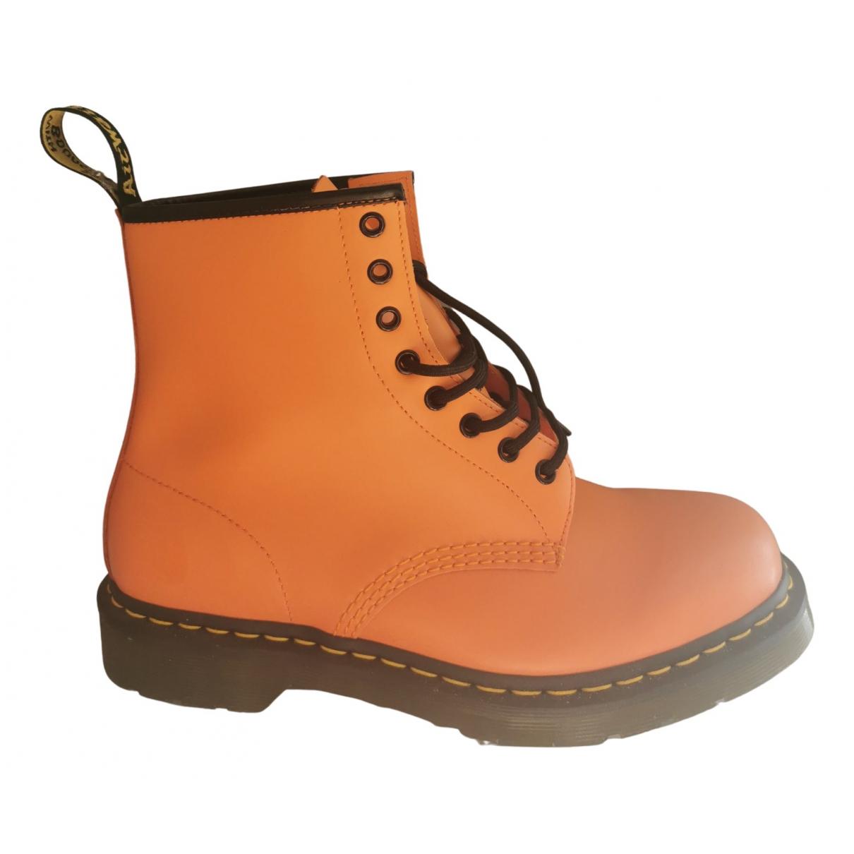 Dr. Martens \N Stiefel in  Orange Leder