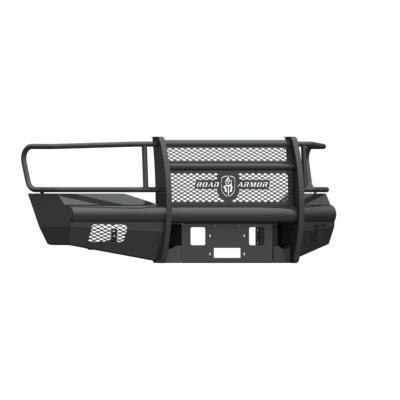 Road Armor Vaquero Front Winch Plates (Texture Black) - 406V-WP
