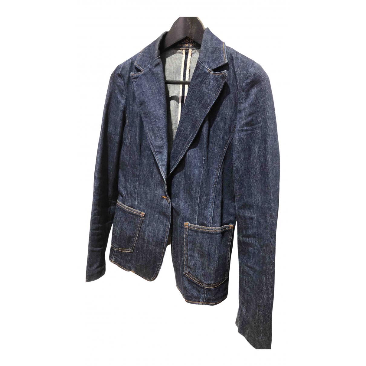 Loewe \N Blue Cotton jacket for Women 36 FR