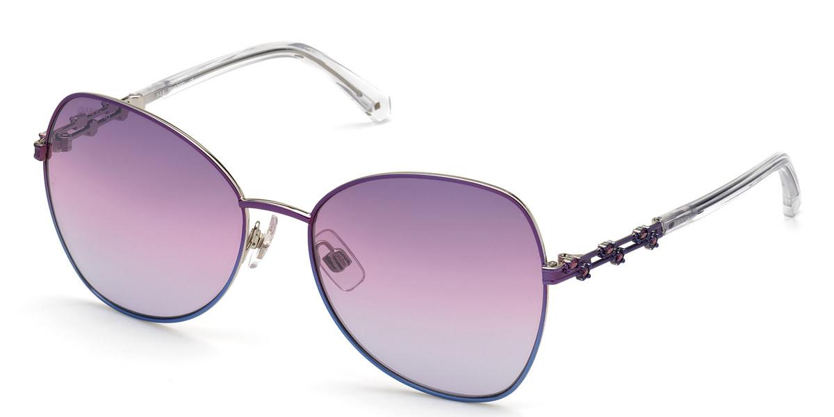 Swarovski SK0290 83Z Women's Sunglasses Violet Size 57