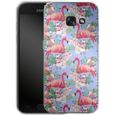 Samsung Galaxy A3 (2017) Silikon Handyhuelle - Flamingo Tropical von Mukta Lata Barua