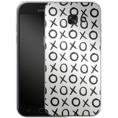 Samsung Galaxy A5 (2017) Silikon Handyhuelle - Love XO White von Amy Sia