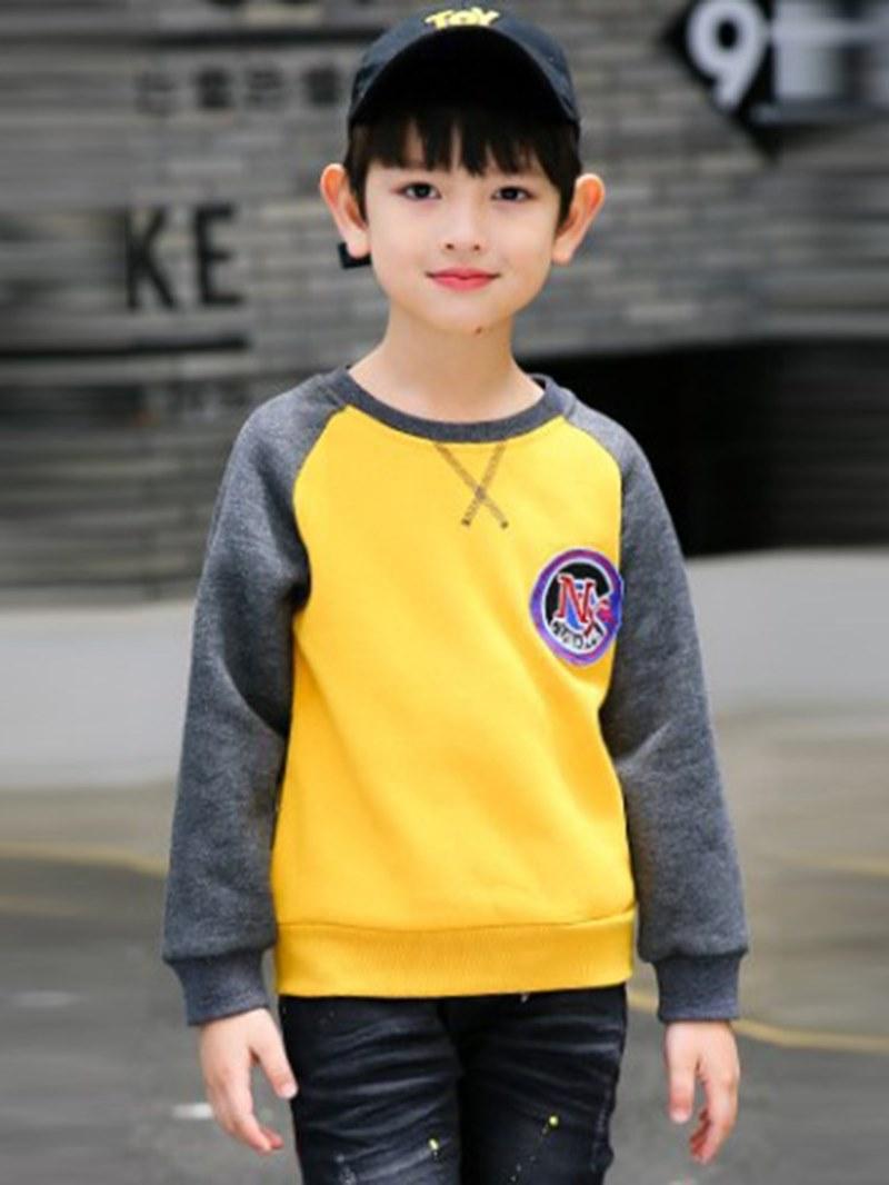 Ericdress Letter Peinted Patchwork Boy's Casual Sweatshirts