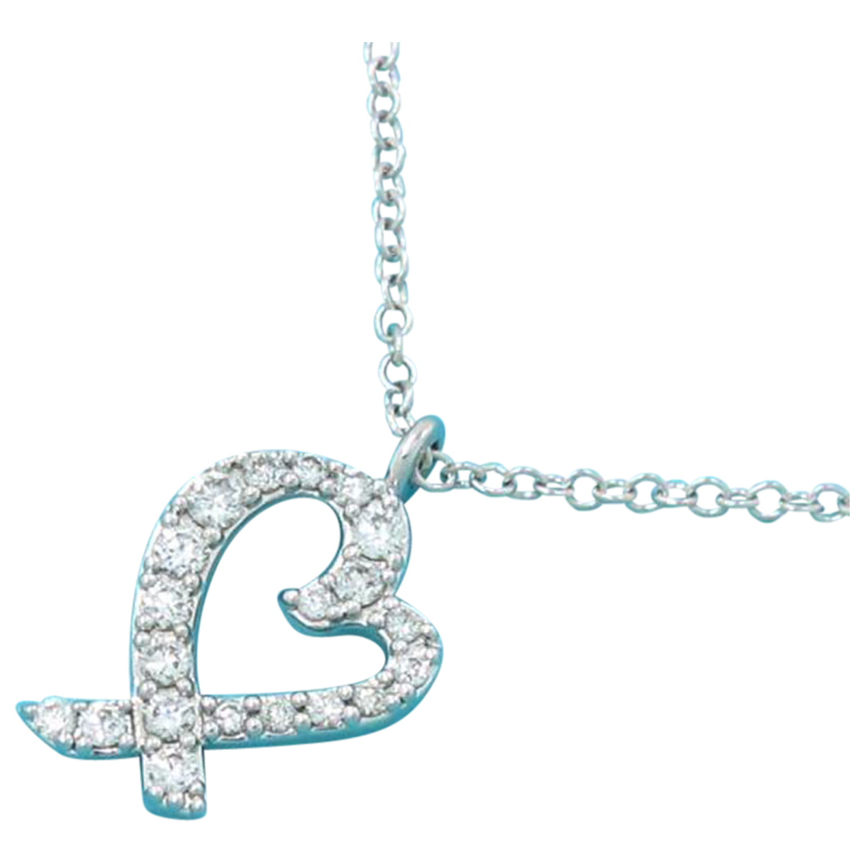 Tiffany & Co - Collier   pour femme en or blanc