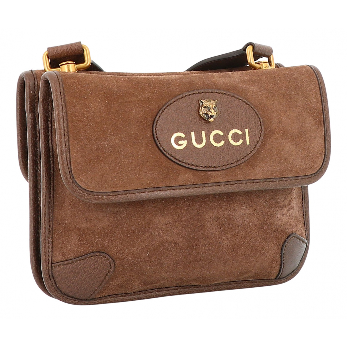 Gucci N Brown Suede handbag for Women N