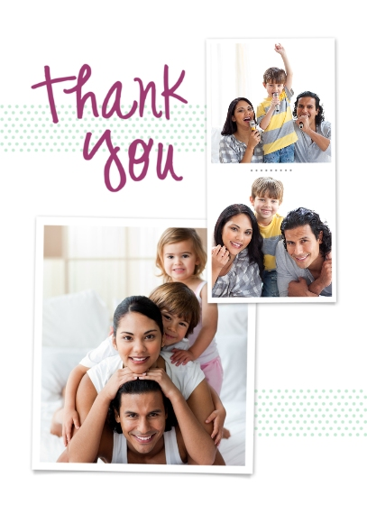 Thank You Cards Mail-for-Me Premium 5x7 Folded Card , Card & Stationery -Polka Dot Thank You