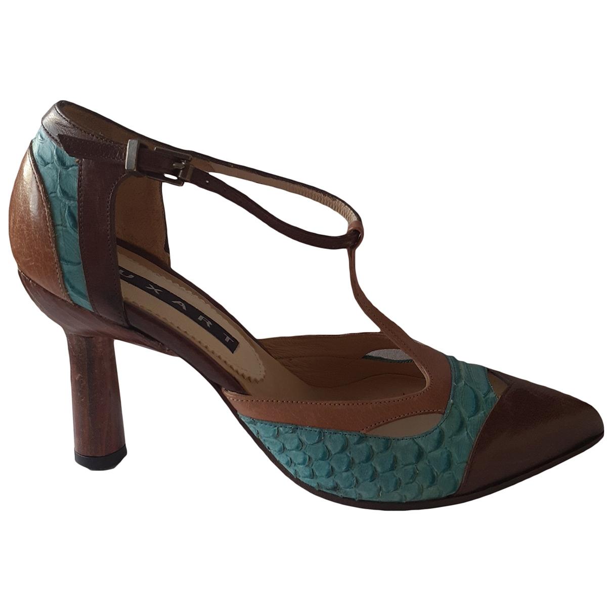 - Escarpins   pour femme en cuir - multicolore