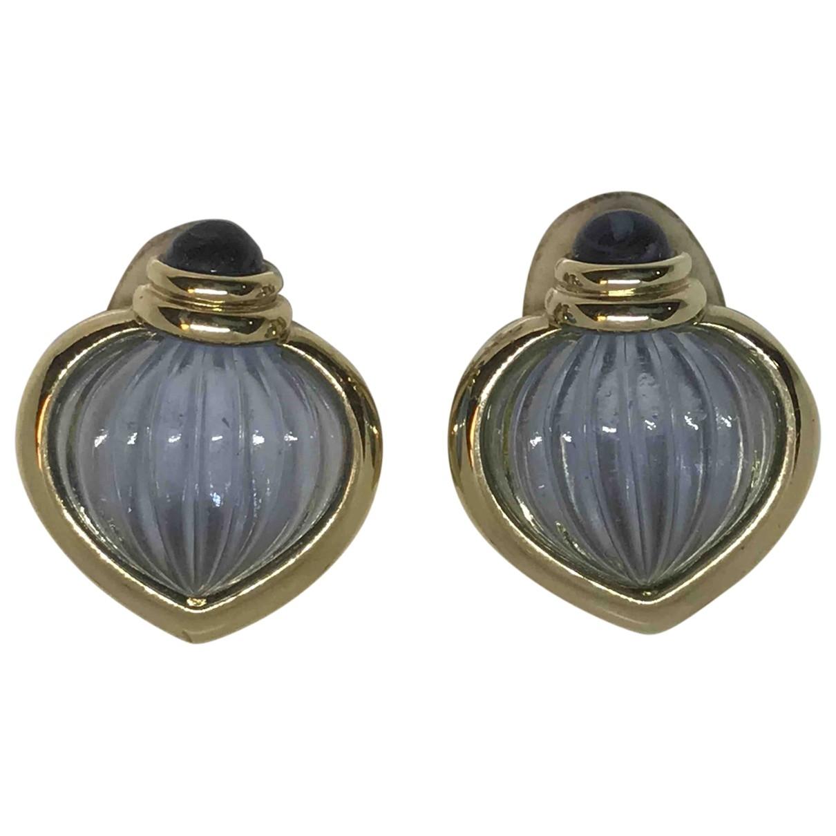 - Boucles doreilles Saphir pour femme en cristal - bleu