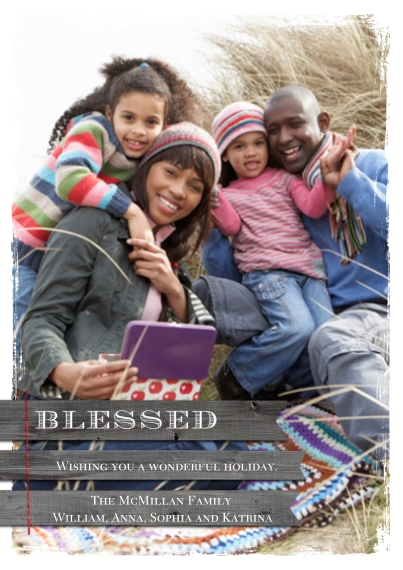 Christmas Photo Cards 5x7 Cards, Premium Cardstock 120lb, Card & Stationery -Rustic Blessed