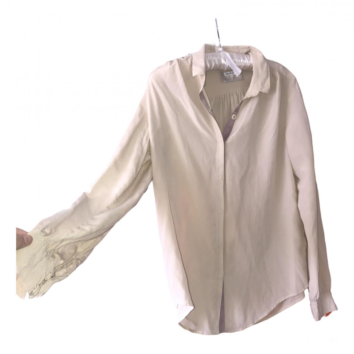 Zadig & Voltaire - Top   pour femme en soie - beige