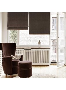 Dark Brown Color Concise and Modern Style Living Room and Bedroom Roman Shade