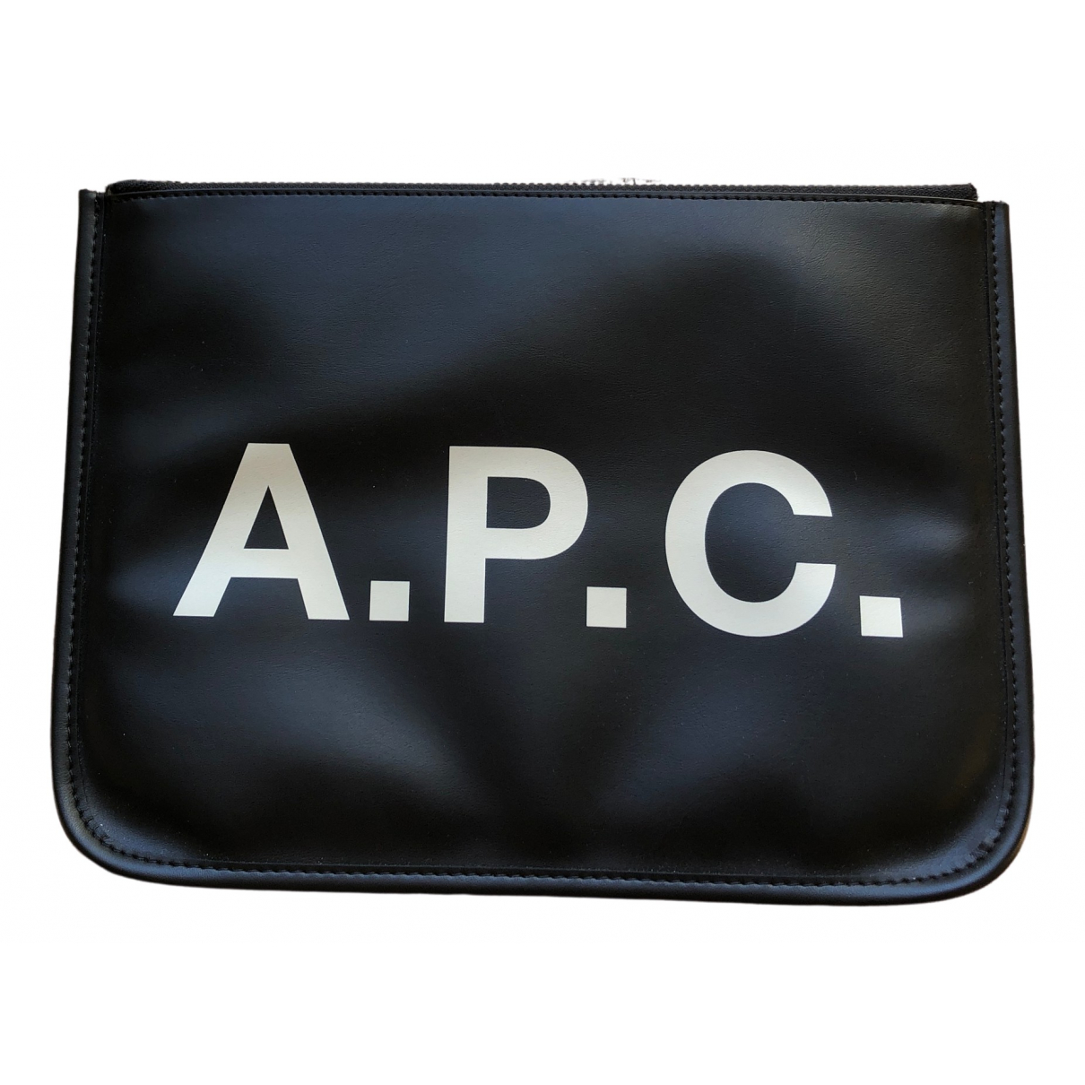 Apc \N Black Leather Clutch bag for Women \N