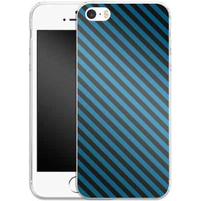 Apple iPhone 5 Silikon Handyhuelle - Stripes von caseable Designs