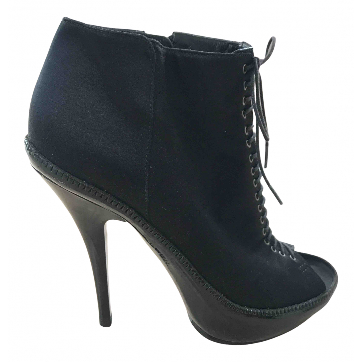 Givenchy N Black Cloth Ankle boots for Women 37.5 EU