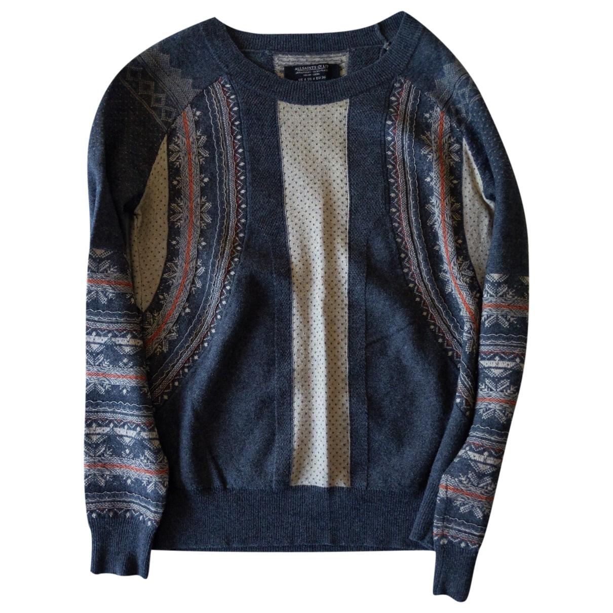 All Saints \N Pullover in  Blau Wolle