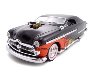1949 Ford With 460 Engine Blower Black  1/24 Diecast Car Model by Unique Replicas