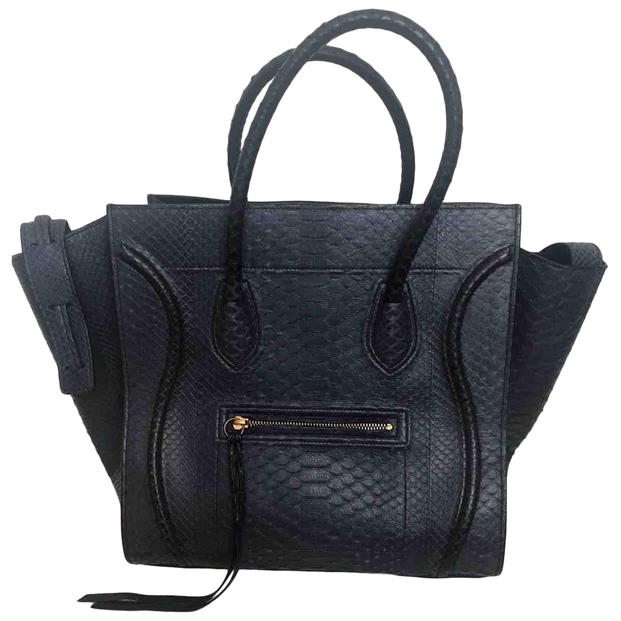Celine Luggage Phantom Blue Python handbag for Women \N