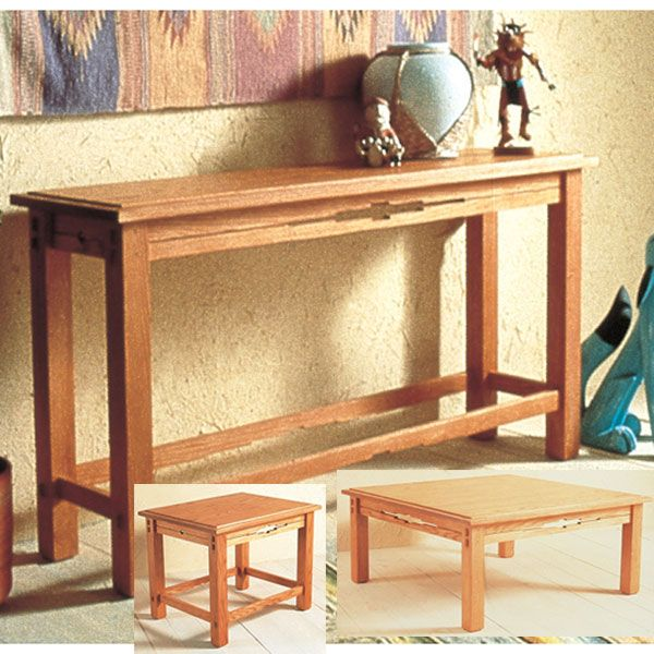 Woodworking Project Paper Plan to Build Southwest Trio of Tables