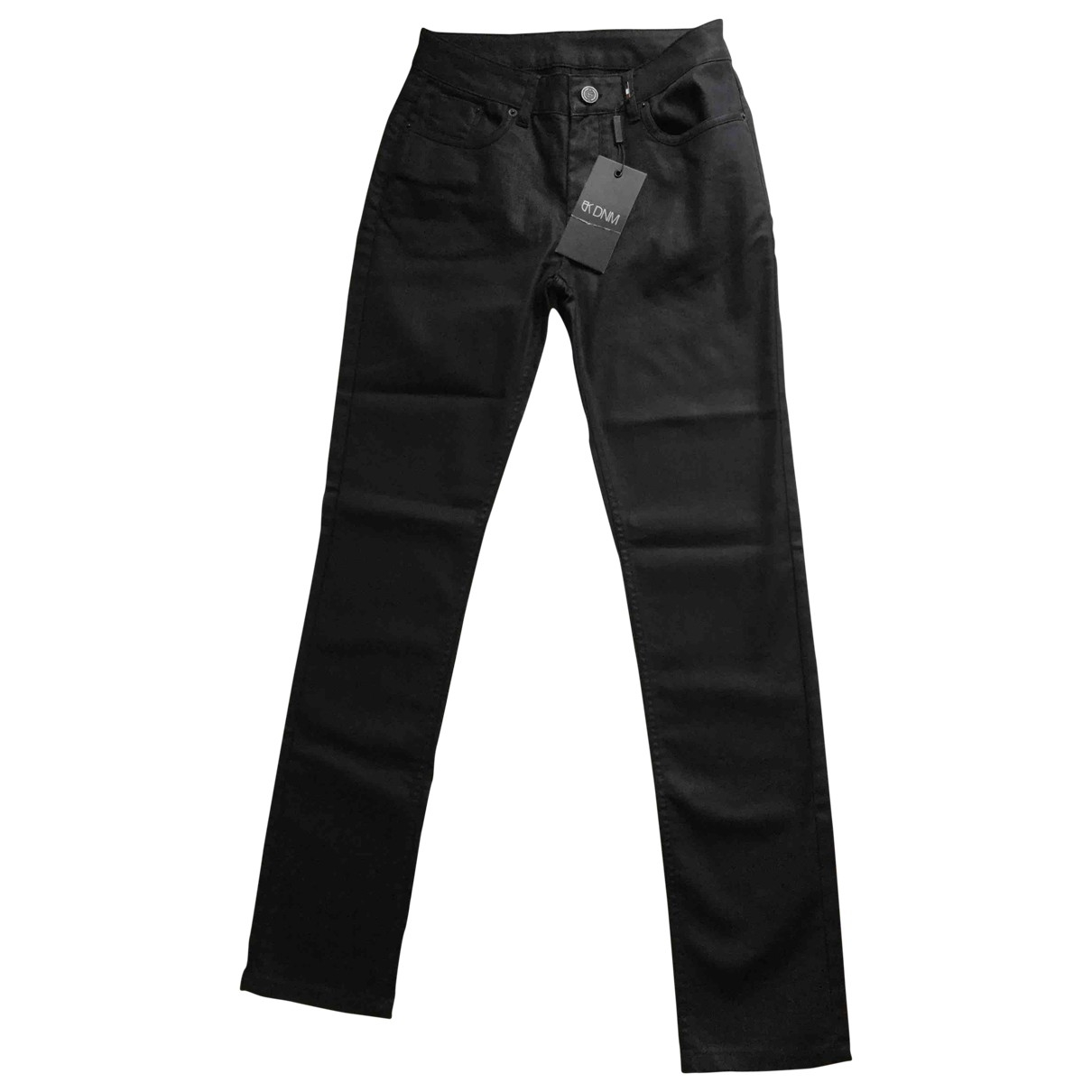 Non Signé / Unsigned \N Black Cotton - elasthane Jeans for Men 40 FR