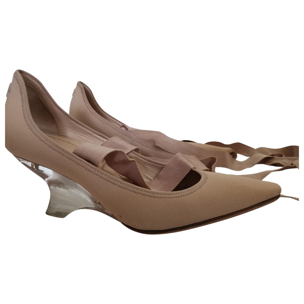 Dior - Escarpins   pour femme en toile - beige
