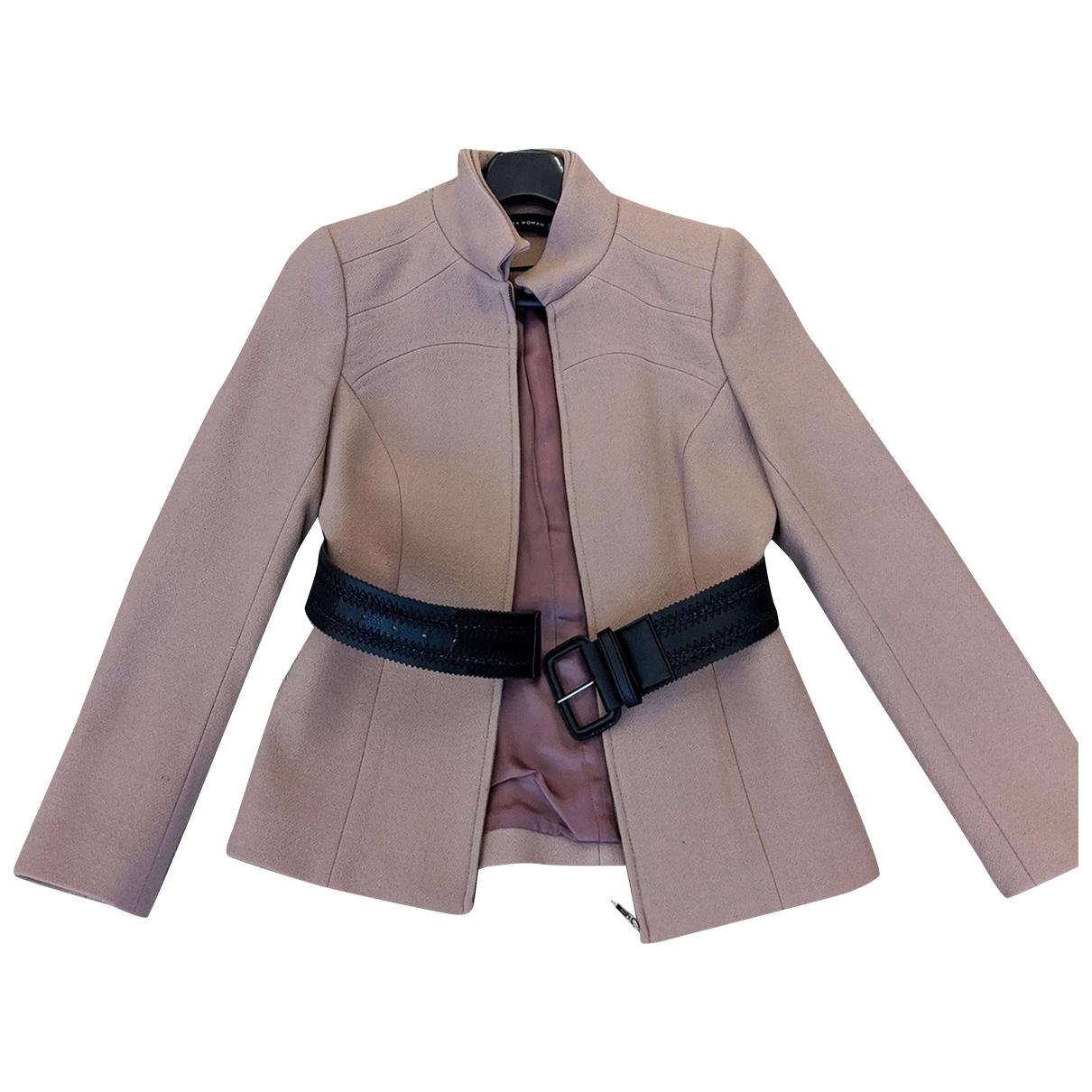 Zara - Veste   pour femme en laine - rose