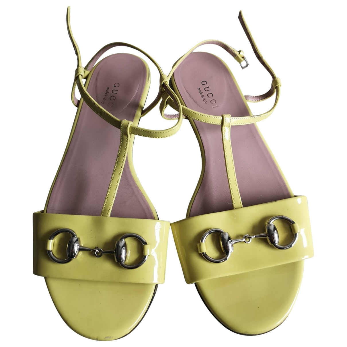 Gucci \N Yellow Patent leather Sandals for Women 36 EU